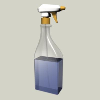 spray bottle 3d 3ds