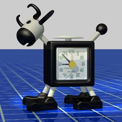 cinema4d cow clock