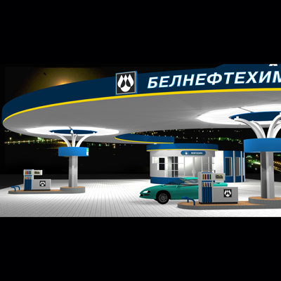 3ds max gas station