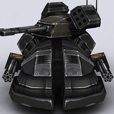 hover tank 3d 3ds