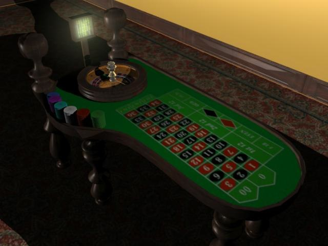 casino table 3d model free download