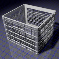 3d model dorm milk crate