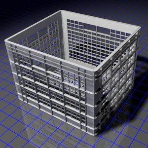 3d model dorm milk crate