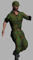 human soldier army 3d model