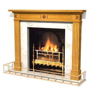 antique fireplace 3d max