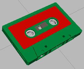 3d model cassette tape gmax