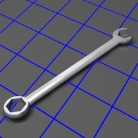 3d combination wrench tilt model