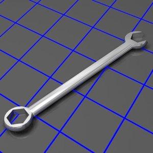 3d combination wrench tilt model
