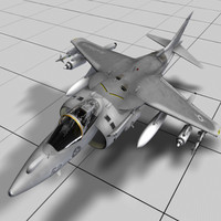 marine harrier 3d model