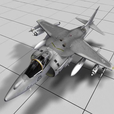 marine harrier 3d model