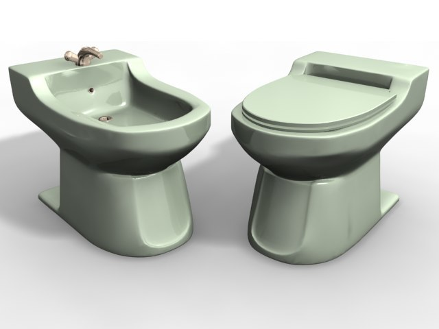 wc bidet 3d model