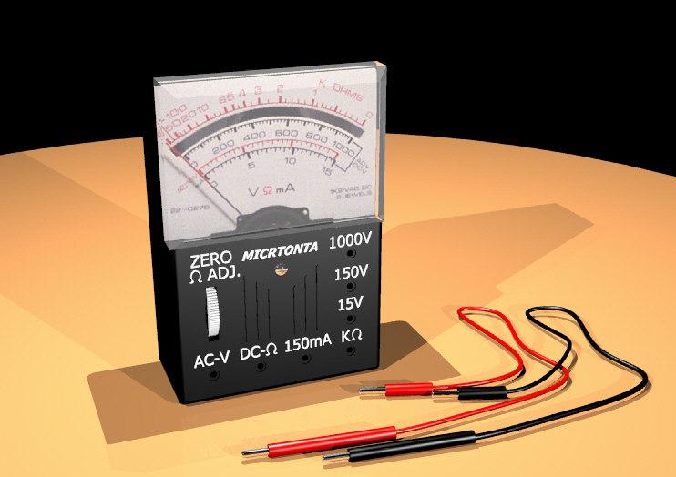 free ohm meter 3d model
