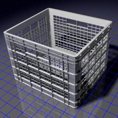 dorm milk crate 3d model