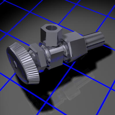 3d model of water supply valve