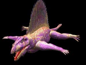 3d dimetrodon pelycosaur