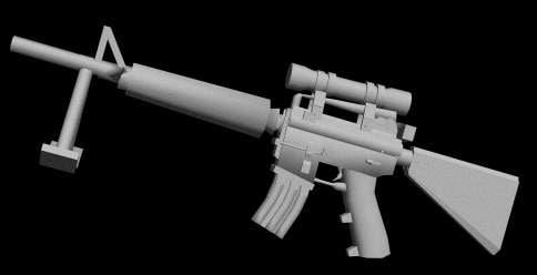 3d model of m16 gun