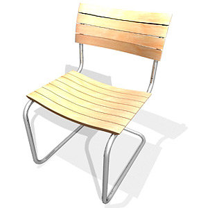 3d cantilever chair