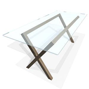 dublin table 3d max