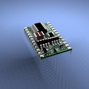 3d model chip basic stamp