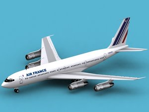 b 707-300 air france 3d model