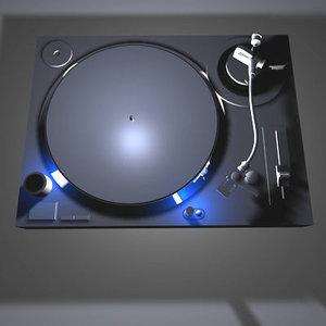 turntable turn table 3d model