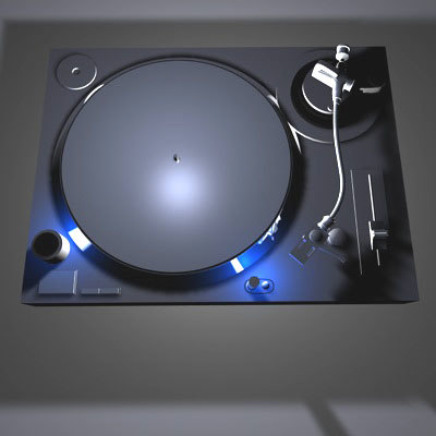 turntable turn table 3d model