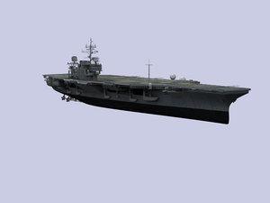 aircraft carrier navy uss kitty 3d model