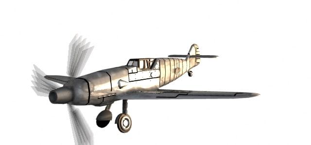 messerschmit fighter plane 3d model
