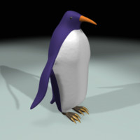 bird penguin 3d model