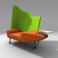 3d torso chair model