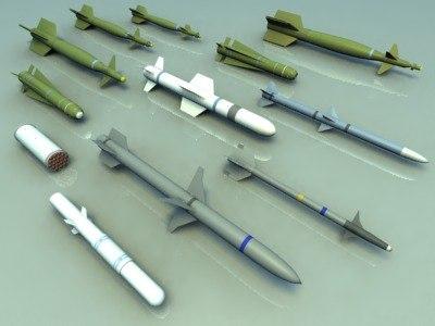 lightwave missiles rockets bombs 3d model