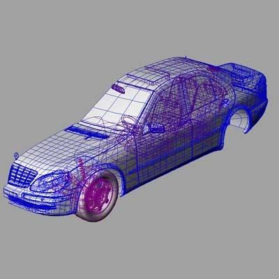 iges mercedes s 3d model