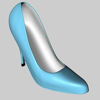 woman heel shoe 3d model