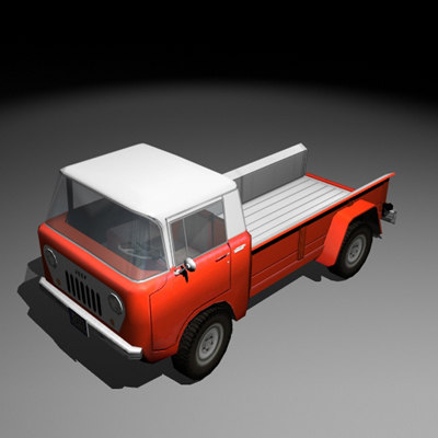 willys truck 3d model