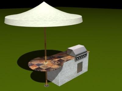 bbq table umbrella max
