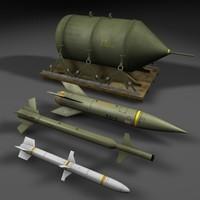 3d model blu-82b bomb air missile