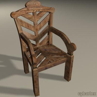 3d garden chair model