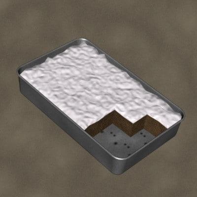 flat cake zipped 3d model