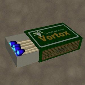 3d model box matches zipped