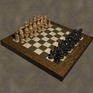 maya chess set zipped