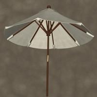 3ds max market umbrella zipped