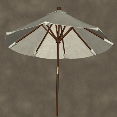 3ds max market umbrella zipped