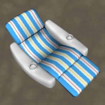 pool lounge zipped 3d max
