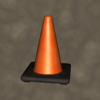 orange cone zipped 3d 3ds