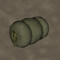 sleeping bag zipped 3d model