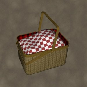 picnic basket zipped 3d max