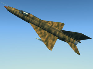 russian mig21 fighter 3d model