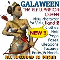3d galaween elf queen model