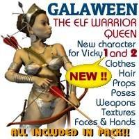 3d galaween elf queen model