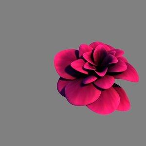 3d purple rose model